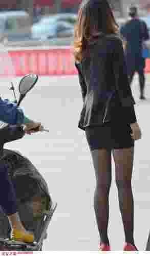 街拍制服丝袜美女图集