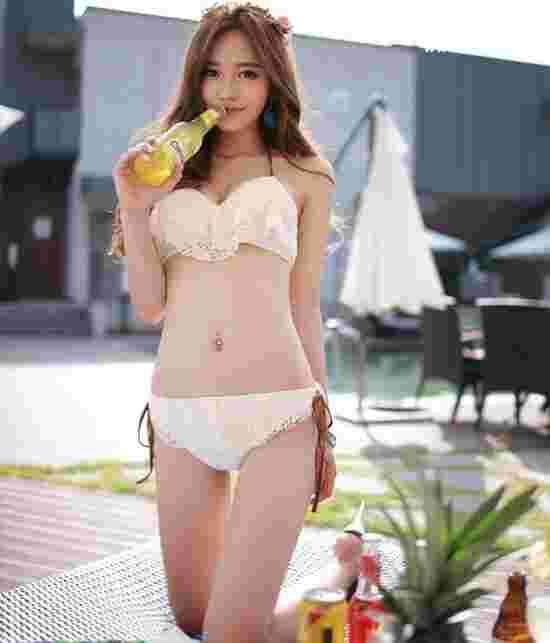 韩国美女模特孙允珠,童颜巨乳大尺度私房写真照