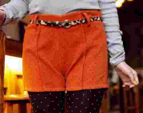 韩版女装冬季短裤搭配 看皮短裤如何独领风骚