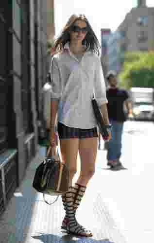 欧美时尚达人显高穿搭术 短裤短裙搭配露修长美腿