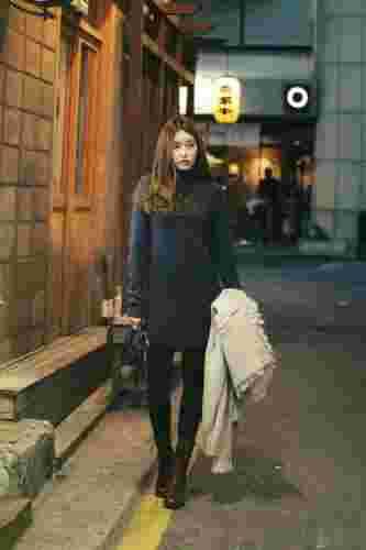 矮个子女生冬季连衣裙时尚妙搭 时尚显瘦显高秀S曲线