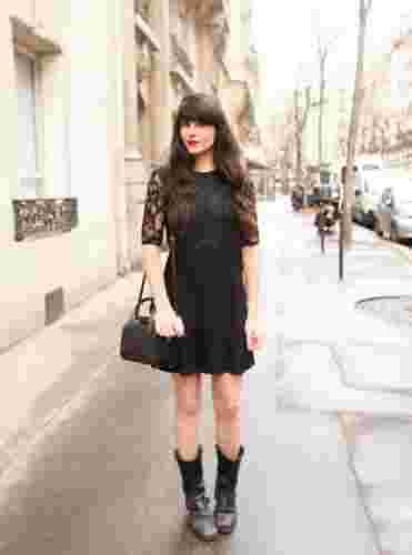微胖女生如何驾驭连衣裙 黑色蕾丝裙性感又显瘦