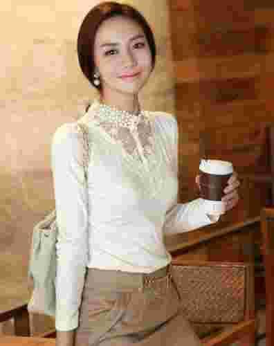 2012新款女装打底衫推荐 蕾丝打底衫为冬装添魅力