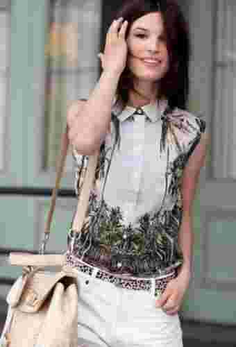 2012夏季无袖衬衣当道 伦敦街拍潮人各领风骚
