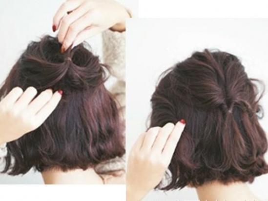 短发如何扎头发好看 半扎设计就很美!图片
