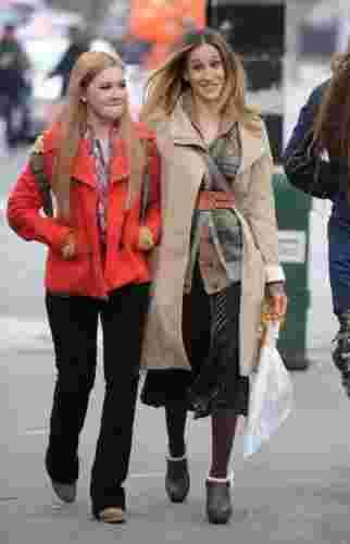 欲望都市的女主角身高 和女儿阿比盖尔·布兰斯林最新街拍