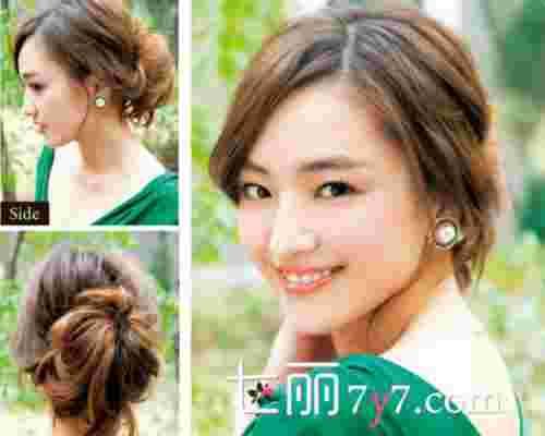 韩式蓬松马尾盘发 变身甜美妩媚小女人