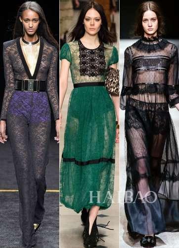 2015秋冬流行趋势之蕾丝时装