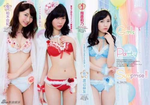 AKB48泳衣 萌妹着比基尼性感斗艳