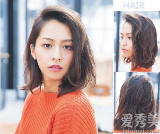 12款流行发型图片 蓬松烫发+刘海修颜百搭