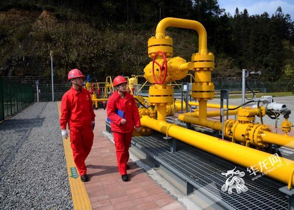 西南首座储气库春节期间力保全国大管网供气 调峰产气1.6亿立方米
