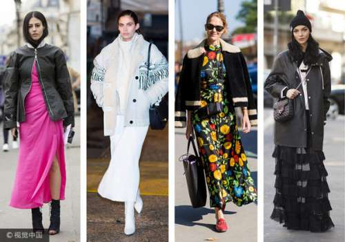 夹克+裙子 柔美硬气不和谐打造时髦套路