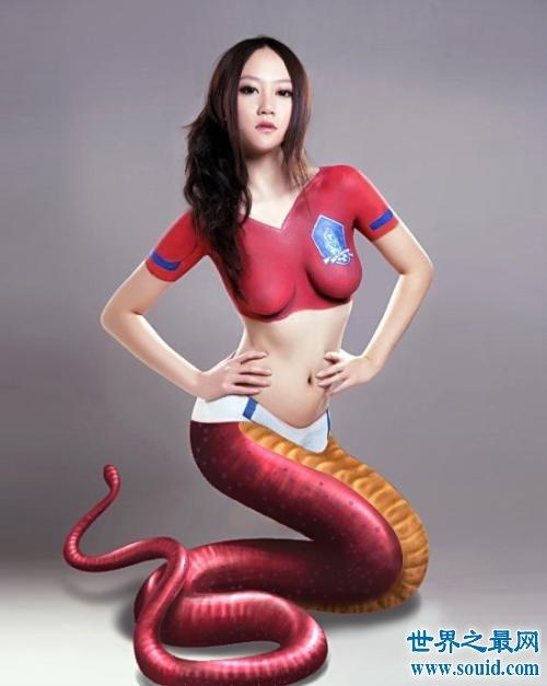 美女蛇图片,传说中的美女妖怪(www.souid.com)