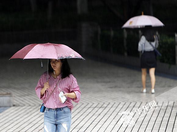 明日重庆局地还有大暴雨 主城最高气温难超27℃