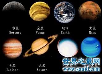 八大行星排列顺序 木星两种顺序都名列前茅