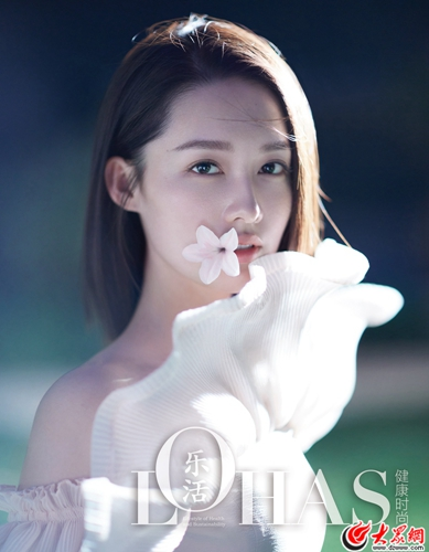 李沁登《乐活LOHAS》6月刊封面 森系少女带来夏日清凉