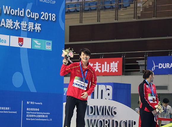 跳水世界杯施廷懋三米板称后 重庆妹子完成三连冠壮举