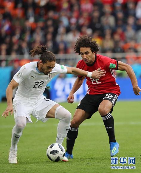 世界杯:希梅内斯第90分钟绝杀 乌拉圭1:0埃及