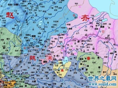 战国地图古今对照 战国七雄都是哪七国(www.souid.com)