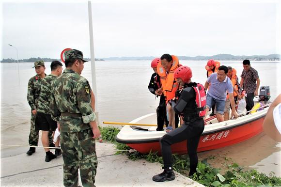 重庆潼南:洪峰过境致数万群众受灾 多地消防紧急驰援