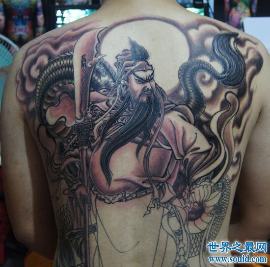 最霸气关公纹身 纹不好可是要出事的哦(www.souid.com)