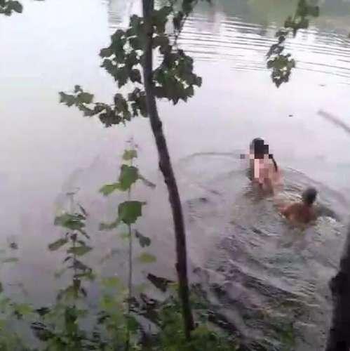 武安白鹤公园一女子跳河轻生 热心群众成功营救!