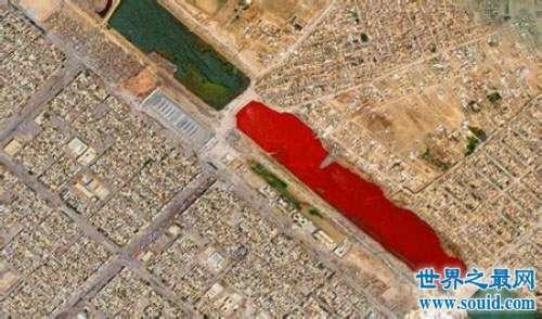 引起众多猜测的伊拉克血湖,比较靠谱的原因是环境污染