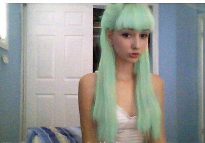 五款薄荷绿头发发型图片欣赏