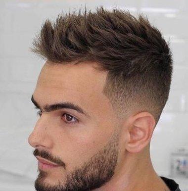 带男票理清凉短发造型 欧美男发潮流款都不长
