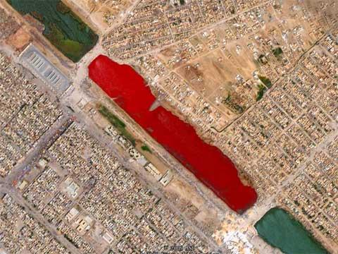 伊拉克血湖,揭秘伊拉克血湖 为何会是红色的