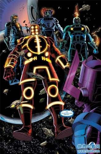 宇宙天神组是漫威强大的神族 灭霸的永恒由天神组创造