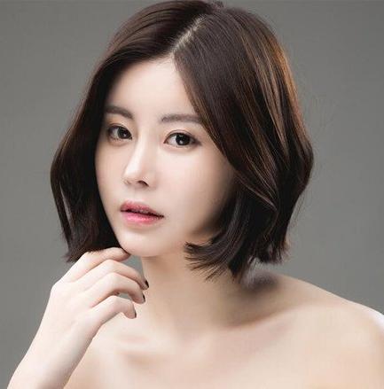 韩范中分短发发型:让你美的入骨的女生短发图片图片
