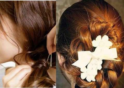 韩式发型扎法中长发:2款韩式发型扎法甜美更优雅