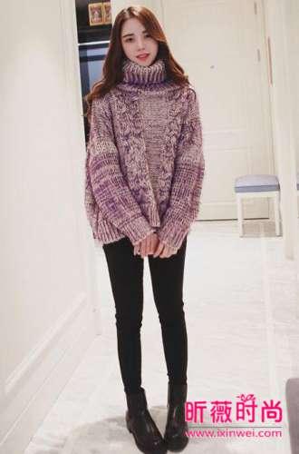 秋冬季时尚甜美必备毛衣 这样搭配干练好看