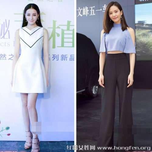 刘诗诗张天爱出街穿衣技巧 有颜值还要会穿衣