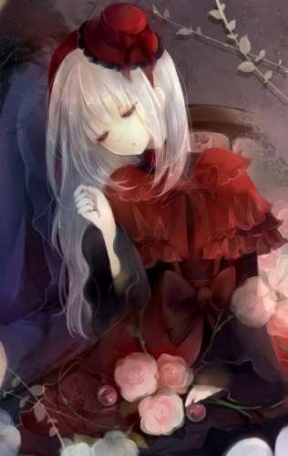 动漫长发蔷薇美少女大图欣赏