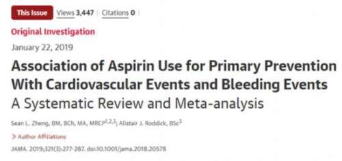 吃阿司匹林预防心血管病,靠谱