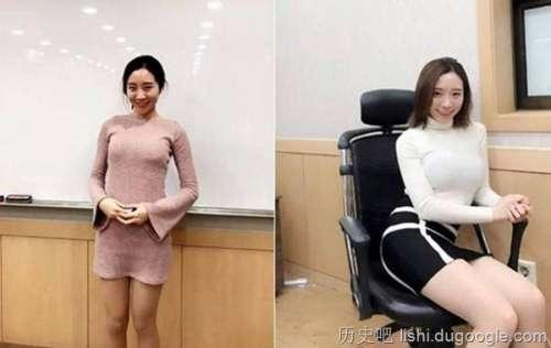 """韩国最美英文老师身材太火辣,""""巨乳窄裙""""鼻血流一地"""