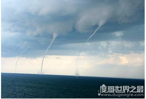 青海湖龙吸水,1小时内出现九龙吸水现象实属罕见