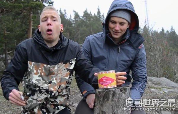 鲱鱼罐头狗吐了的视频,狗狗只是闻了一下(吐出早饭)