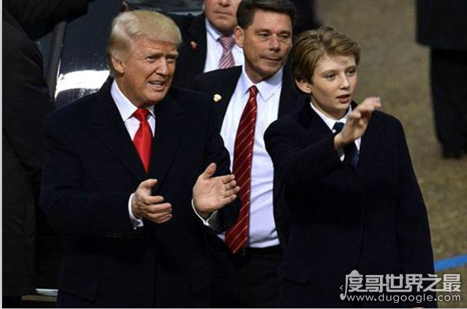 特朗普身高190,小儿子目测与他同高(网友惊叹他才12岁)