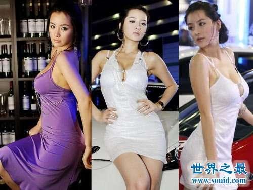 韩国第一美女车模林智慧,也是韩国第一S女王