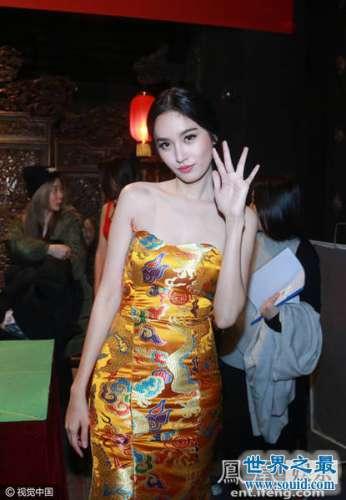 泰国最美人妖poy穿中国龙袍,霸气超级大美女
