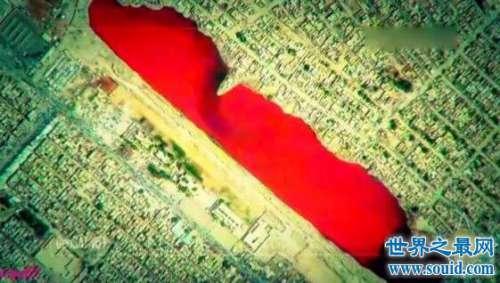 充满红色液体的伊拉克血湖,这才是真正的血流成湖