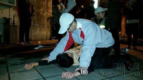 20余人夜袭台湾领导人官邸 滋事人员被逮捕