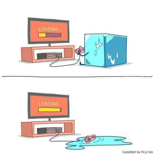 这些关于冰块的可爱漫画没有一丝寒冷,反而能够温暖你的心灵!