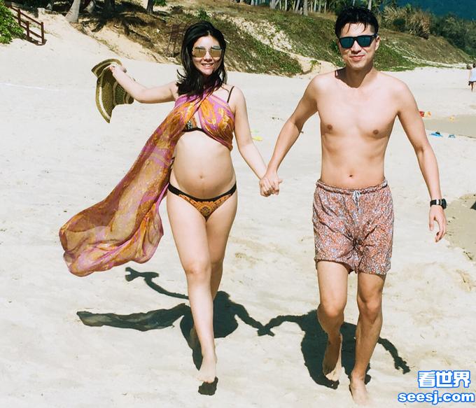 李小萌顺产生子 王雷在妻子生产前与其拍照留念笑容甜