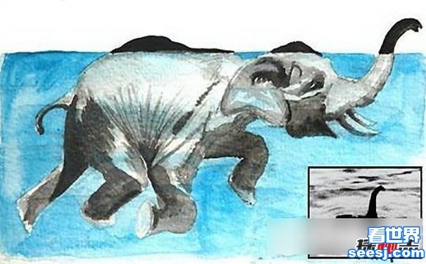 揭秘尼斯湖水怪真相,尼斯湖水怪真的存在吗(竟是大象假扮)
