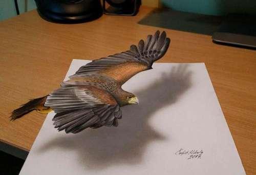 艺术家创作超逼真3D立体画 真看不出这是画的