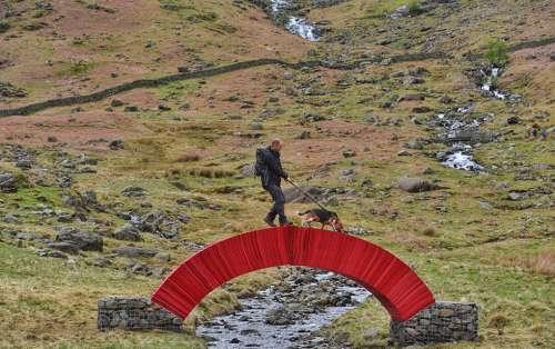 英国艺术家用2万张纸搭桥